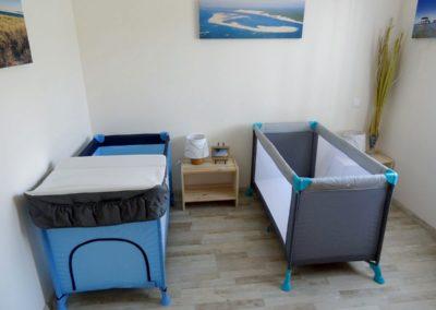 """Chambre """"La mer"""" en version 2 lits bébé"""